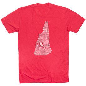 Running Short Sleeve T-Shirt - New Hampshire State Runner