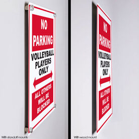 """Volleyball Aluminum Room Sign No Parking (18"""" X 12"""")"""