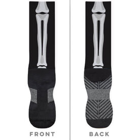 General Sports Printed Mid-Calf Socks - Skeleton
