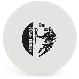 Personalized Lacrosse 'GUY' Ball (White Ball)