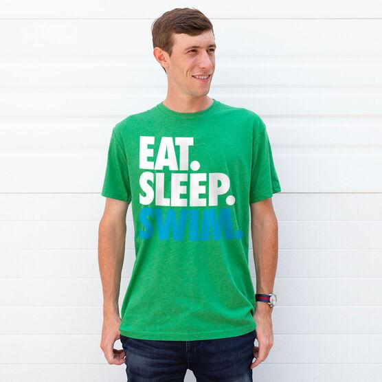 Swimming T-Shirt Short Sleeve Eat. Sleep. Swim.