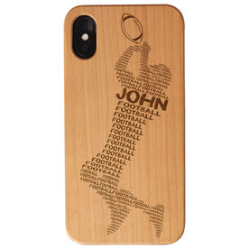 Football Engraved Wood IPhone® Case - Words