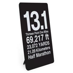 Running Desk Art - 13.1 Half Marathon Math Miles