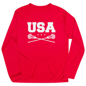 Guys Lacrosse Long Sleeve Performance Tee - USA Lacrosse