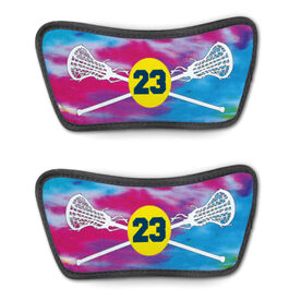 Girls Lacrosse Repwell™ Sandal Straps - Personalized Tie Dye Pattern with Lacrosse Sticks