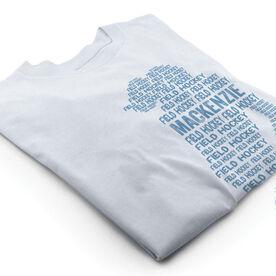 Vintage Field Hockey T-Shirt - Personalized Field Hockey Words