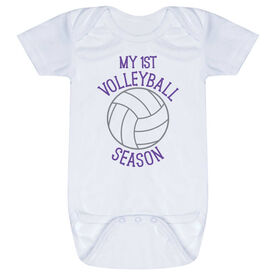 Volleyball Baby One-Piece - My First Volleyball Season