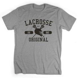 Guys Lacrosse Short Sleeve T-Shirt - Personalized Lacrosse Original