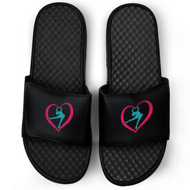 Figure Skating Black Slide Sandals - Skate From The Heart
