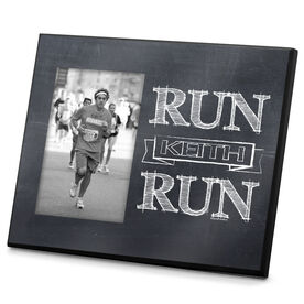 Running Photo Frame Chalkboard Run (Your Name) Run