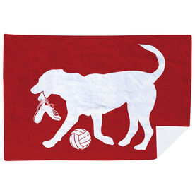 Volleyball Premium Blanket - Holly the Volleyball Dog