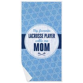 Girls Lacrosse Premium Beach Towel - My Favorite Player