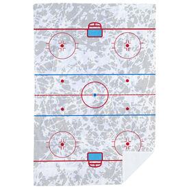Hockey Premium Blanket - Rink (With Ice Background)