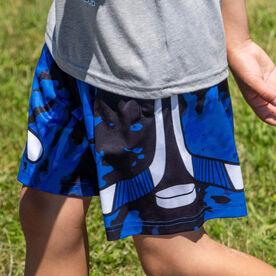 Blue Tie-Dye Hockey Shorts
