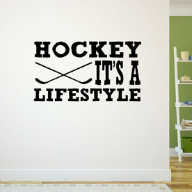 Hockey It's a Lifestyle Removable ChalkTalkGraphix Wall Decal