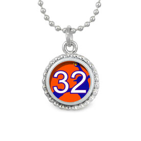 Softball Pitcher Your Number SportSNAPS Necklace