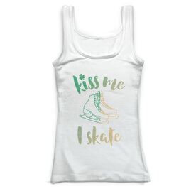Figure Skating Vintage Fitted Tank Top - Kiss Me I Skate