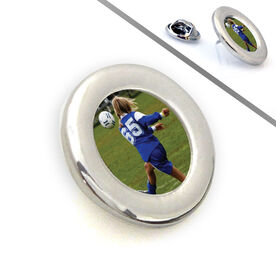 Soccer Lapel Pin Your Soccer Photo