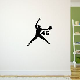 Personalized Softball Pitcher Removable ChalkTalkGraphix Wall Decal