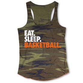 Basketball Camouflage Racerback Tank Top - Eat. Sleep. Basketball.