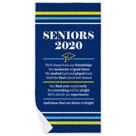 Premium Beach Towel - Seniors 2020 Our Future Is Bright