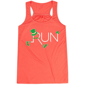 Running Flowy Racerback Tank Top - Let's Run Lucky