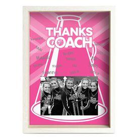Cheerleading Premier Wooden Frame - Thanks Coach