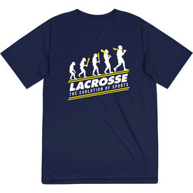 Guys Lacrosse Short Sleeve Performance Tee - Evolution of Lacrosse