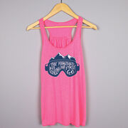Skiing & Snowboarding Flowy Racerback Tank Top - The Mountains Are Calling