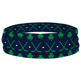 Hockey Multifunctional Headwear - Hockey Sticks Shamrock Pattern RokBAND