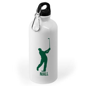 Golf 20 oz. Stainless Steel Water Bottle - Golf Male Player Silhouette