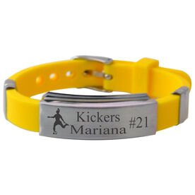 Personalized Soccer Player (F) Silicone Bracelet