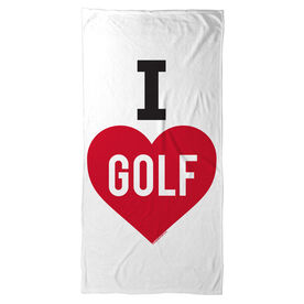 Golf Beach Towel I Love Golf