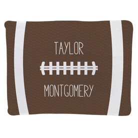 Football Baby Blanket - Football Stitches