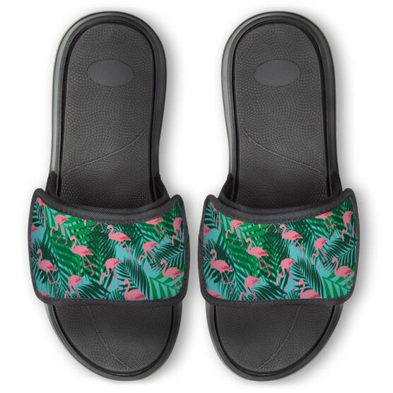 Personalized For You Repwell™ Slide Sandals - Flamingos with Palms