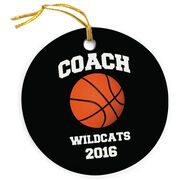 Basketball Porcelain Ornament Personalized Basketball Coach with Basketball