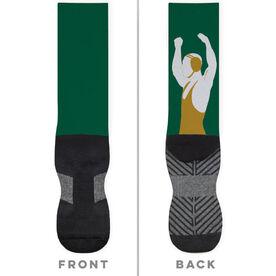 Wrestling Printed Mid-Calf Socks - Victory Wrestler