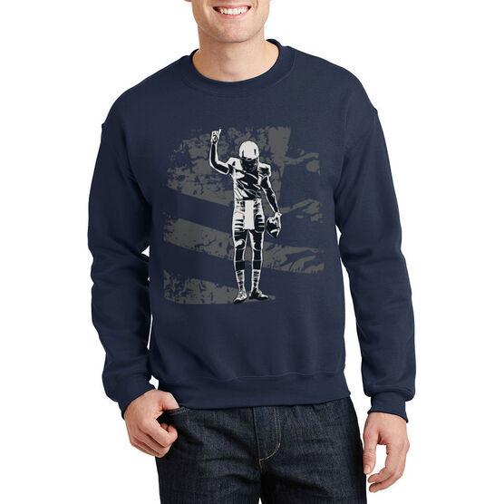 Football Crew Neck Sweatshirt - Number One Player (Football)