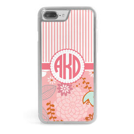 Personalized iPhone® Case - Striped Floral Monogram