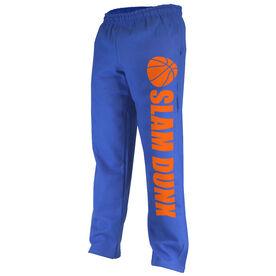 Basketball Fleece Sweatpants Slam Dunk with Basketball