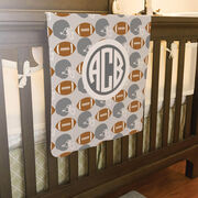 Football Baby Blanket - Football Pattern
