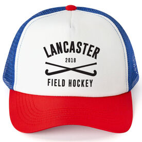 Field Hockey Trucker Hat - Team Name With Curved Text