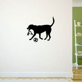 Soccer Dog Removable ChalkTalkGraphix Wall Decal