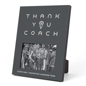 Girls Lacrosse Photo Frame - Thank You Coach