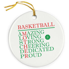 Basketball Porcelain Ornament - Mother Words