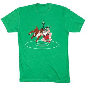 Wrestling T-Shirt Short Sleeve - Wrestling Santa