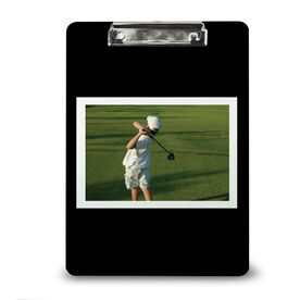 Golf Custom Clipboard Golf Your Photo Solid Background