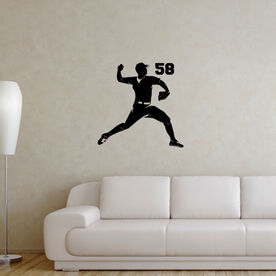 Baseball Pitcher Removable ChalkTalkGraphix Wall Decal