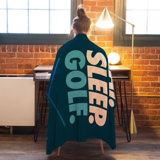 Golf Premium Blanket - Eat. Sleep. Golf. Vertical