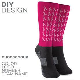 Printed Mid-Calf Socks - Hope